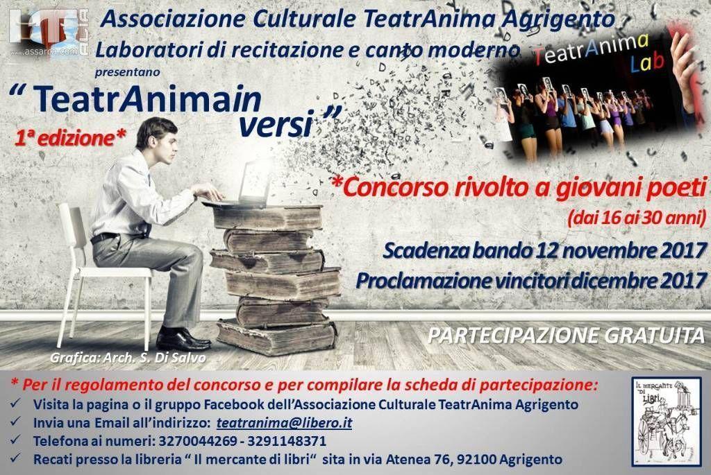 TeatrAnimainversi - Concorso di poesia per giovani autori
