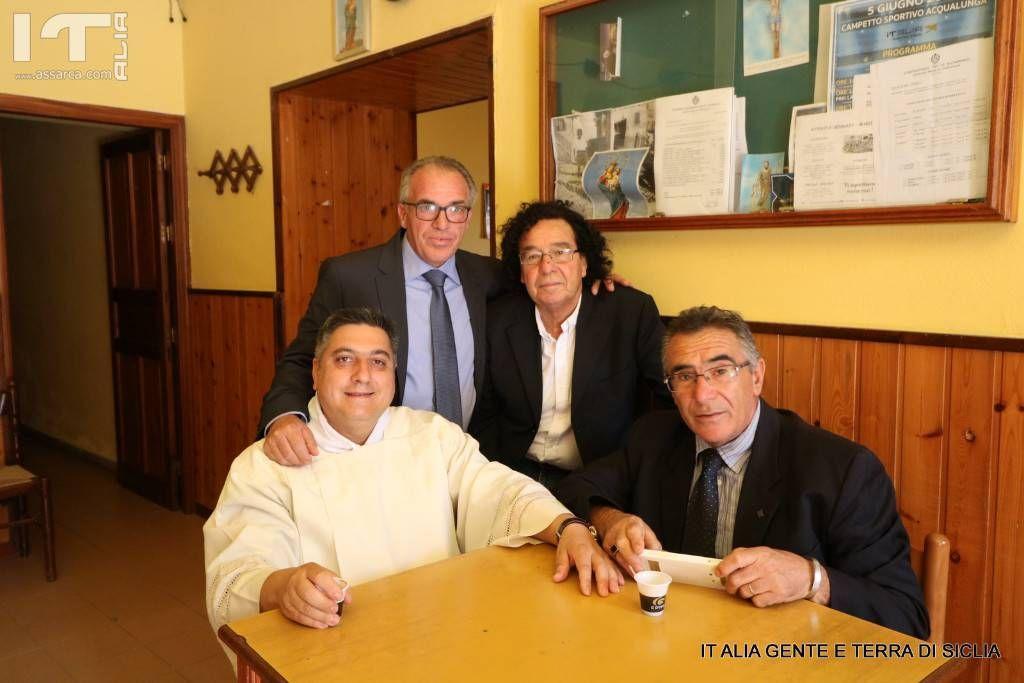 2 Luglio 2018, padre Nino Vicari,Ciro Sparacello,Enzo Drago, e Lino di Piazza