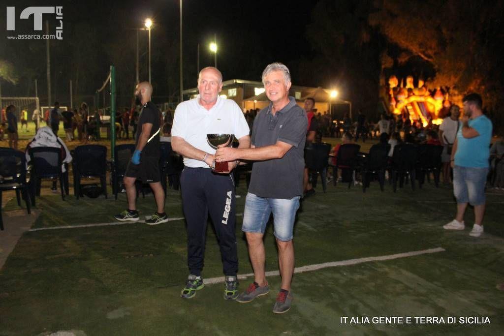 Antonino Ditta, secondo classificato nel torneo di tennis svoltosi a Roccapalumba in occsione della notte bianca delo sport.