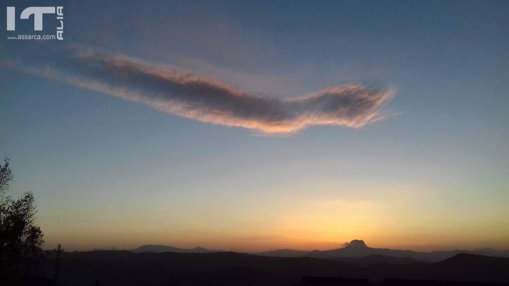Pennellate nel cielo.tramonto del 18 aprile 2017
