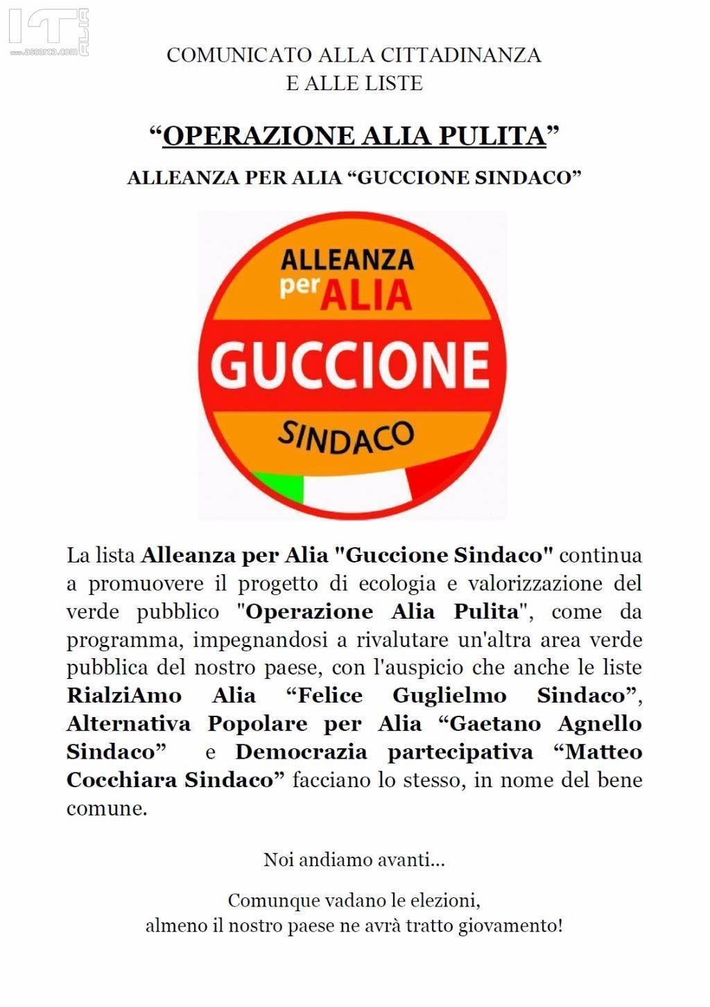 Comizio elettorale Alleanza per Alia Guccione sindaco
