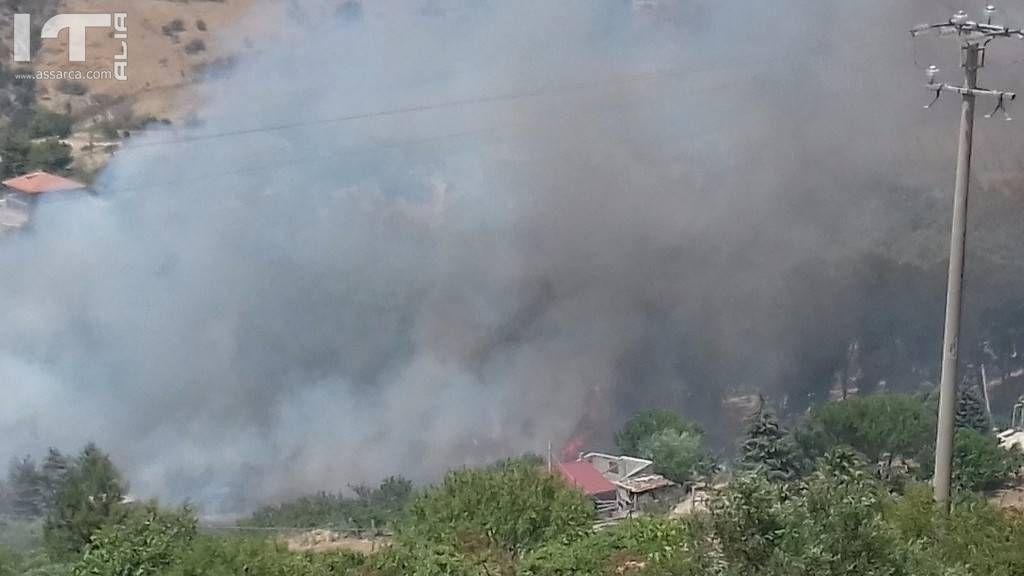 Incendio alla periferia di Alia