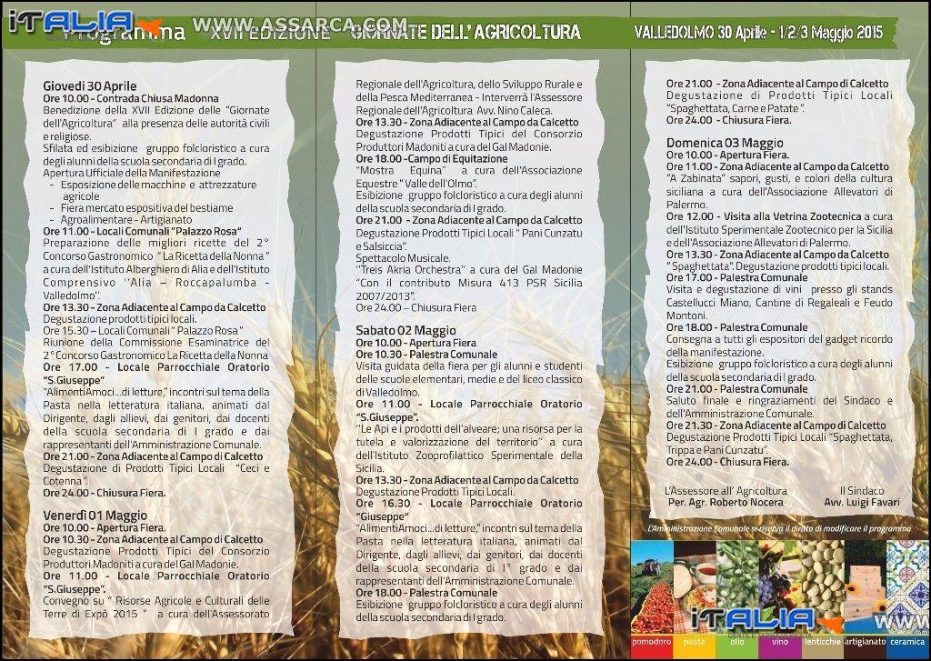 PROGRAMMA XVII EDIZIONE GIORNATA DELL`AGRICOLTURA