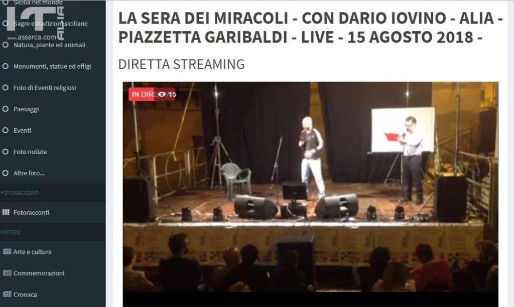 LA SERA DEI MIRACOLI - CON DARIO IOVINO