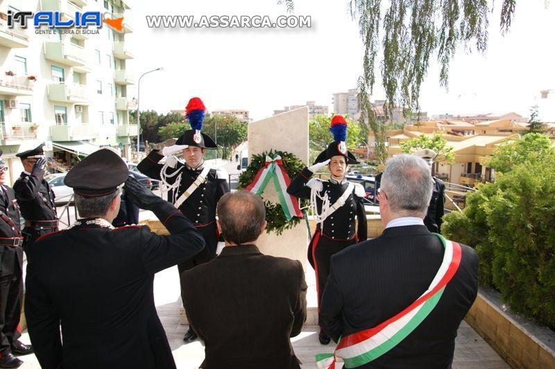 COMMEMORAZIONE DEL 42� ANNIVERSARIO ECCIDIO DEL CARABINIERE SCELTO ORAZIO COSTANTINO