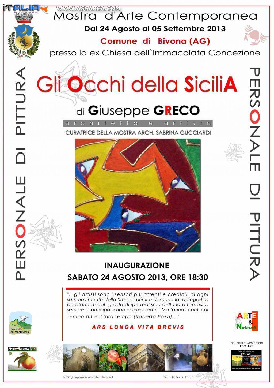 """""""GLI OCCHI DELLA SICILIA"""" DI GIUSEPPE GRECO"""