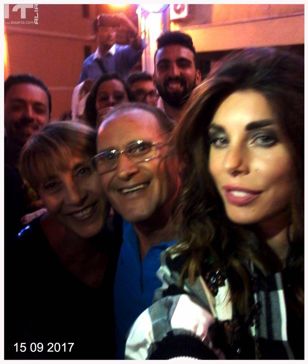 Selfie con Bianca Atzei