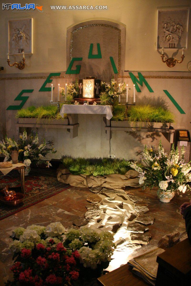 Altare della reposizione a Napoli dove sono vice parroco
