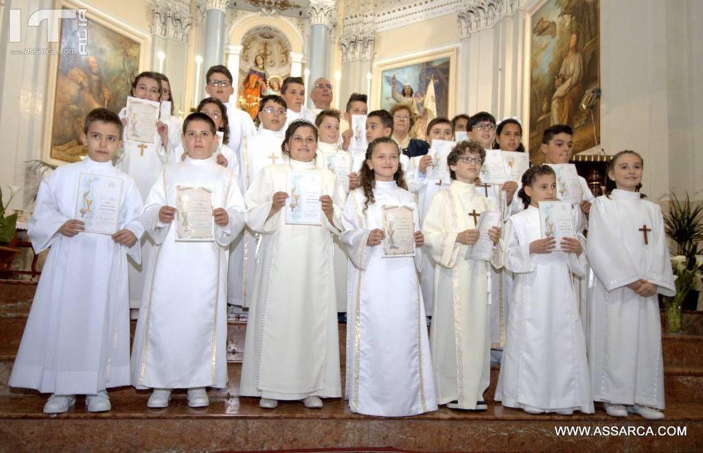 Prime comunioni,Alia 7 Maggio 2017, chiesa Sant  Anna.