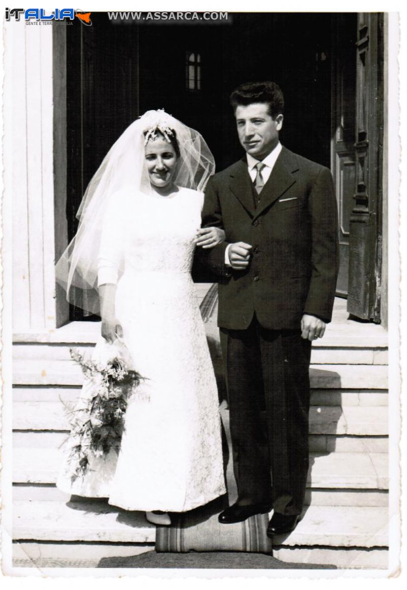 Sposi Giuseppe Centanni e Renza 1959