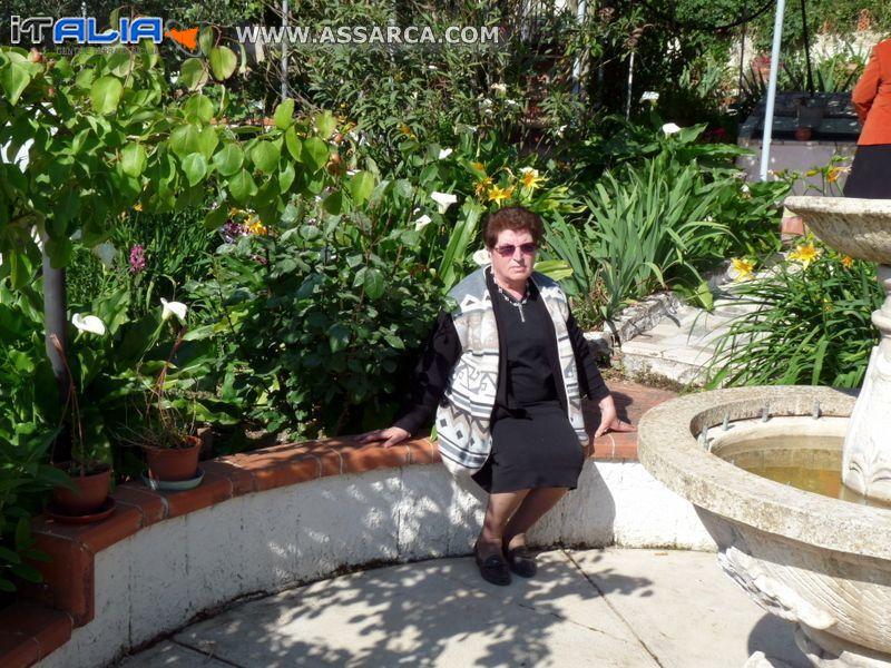 Lilla fra piante e fiori del suo giardino