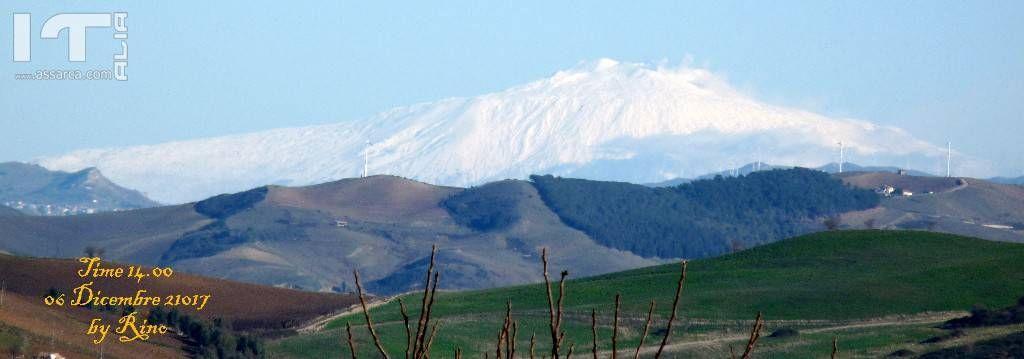 Vulcano Etna innevato