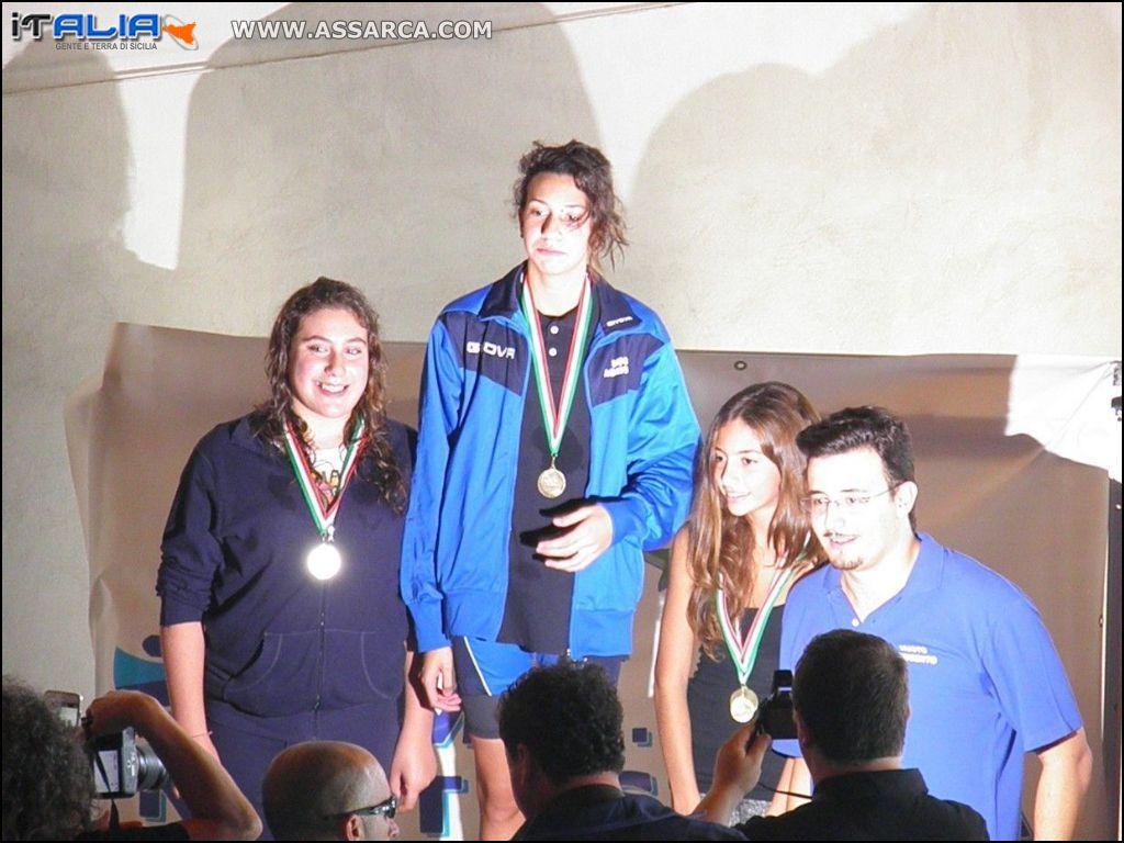 Katia Minnuto, partecipazione campionato regionale di nuoto svolto a Favara.
