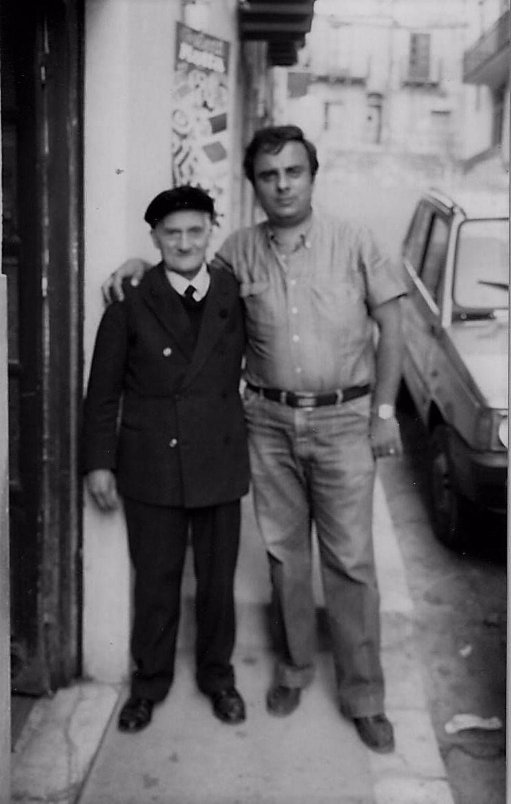 Lo zio Gerlando e Matteo.