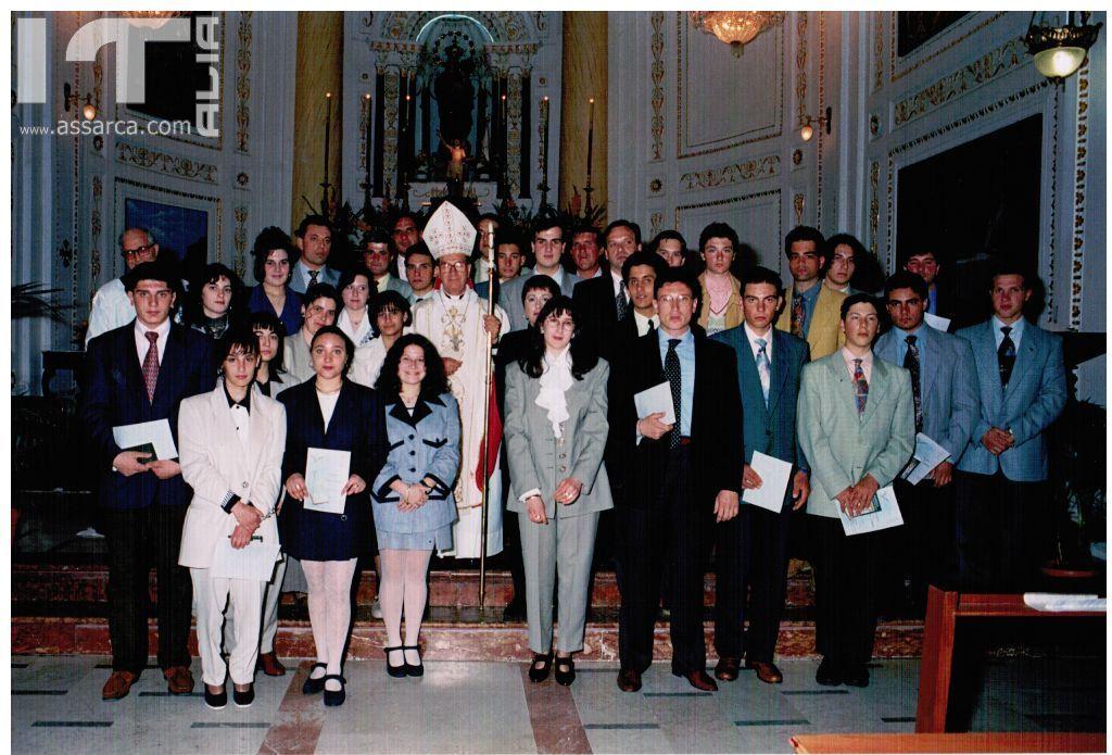 Cresima 22 Aprile 1995,vescovo Rosario Mazzola.