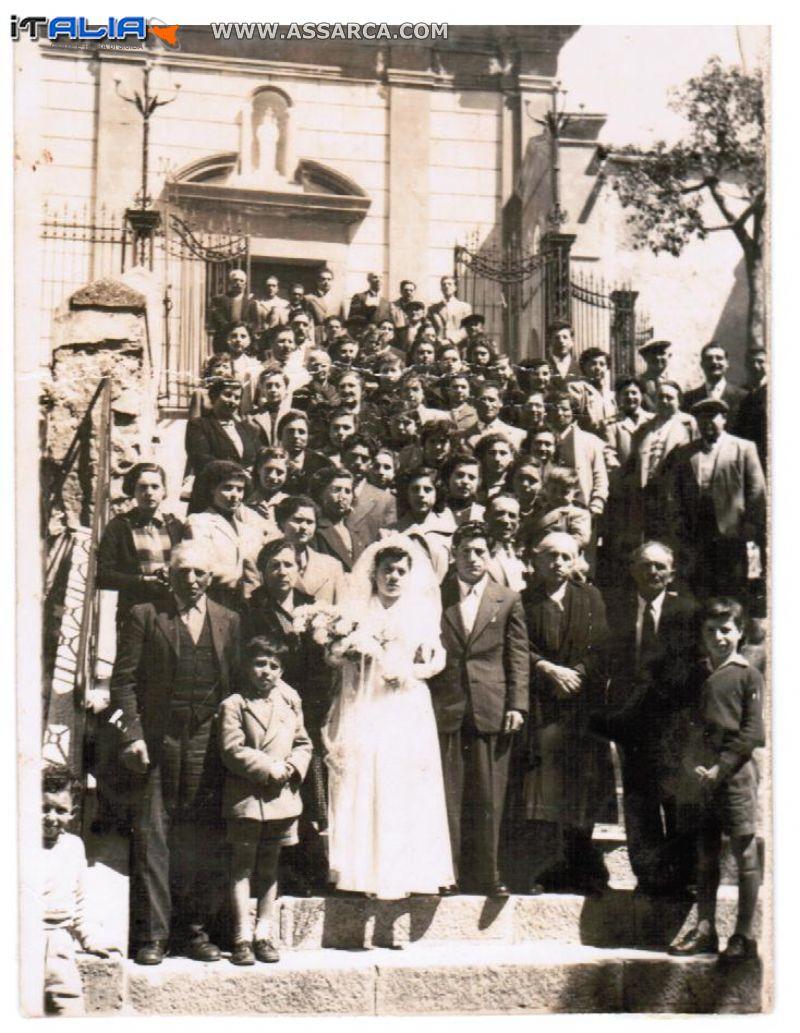 matrimonio di gioia giuseppe centanni maria anni60