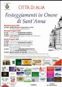 <small>Programma Festeggiamenti in onore di Sant Anna.</small>