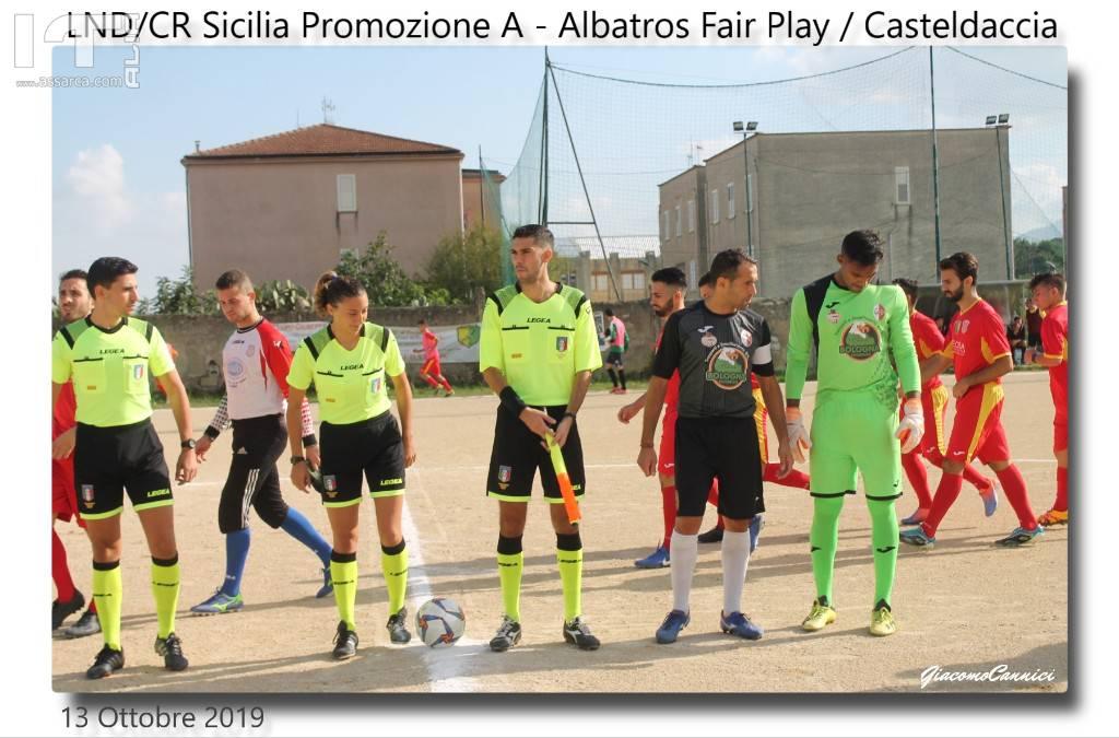 """Promozione A:  Albatros Fair Play / Casteldaccia :<br> """" Il Walzer delle occasioni sprecate""""."""