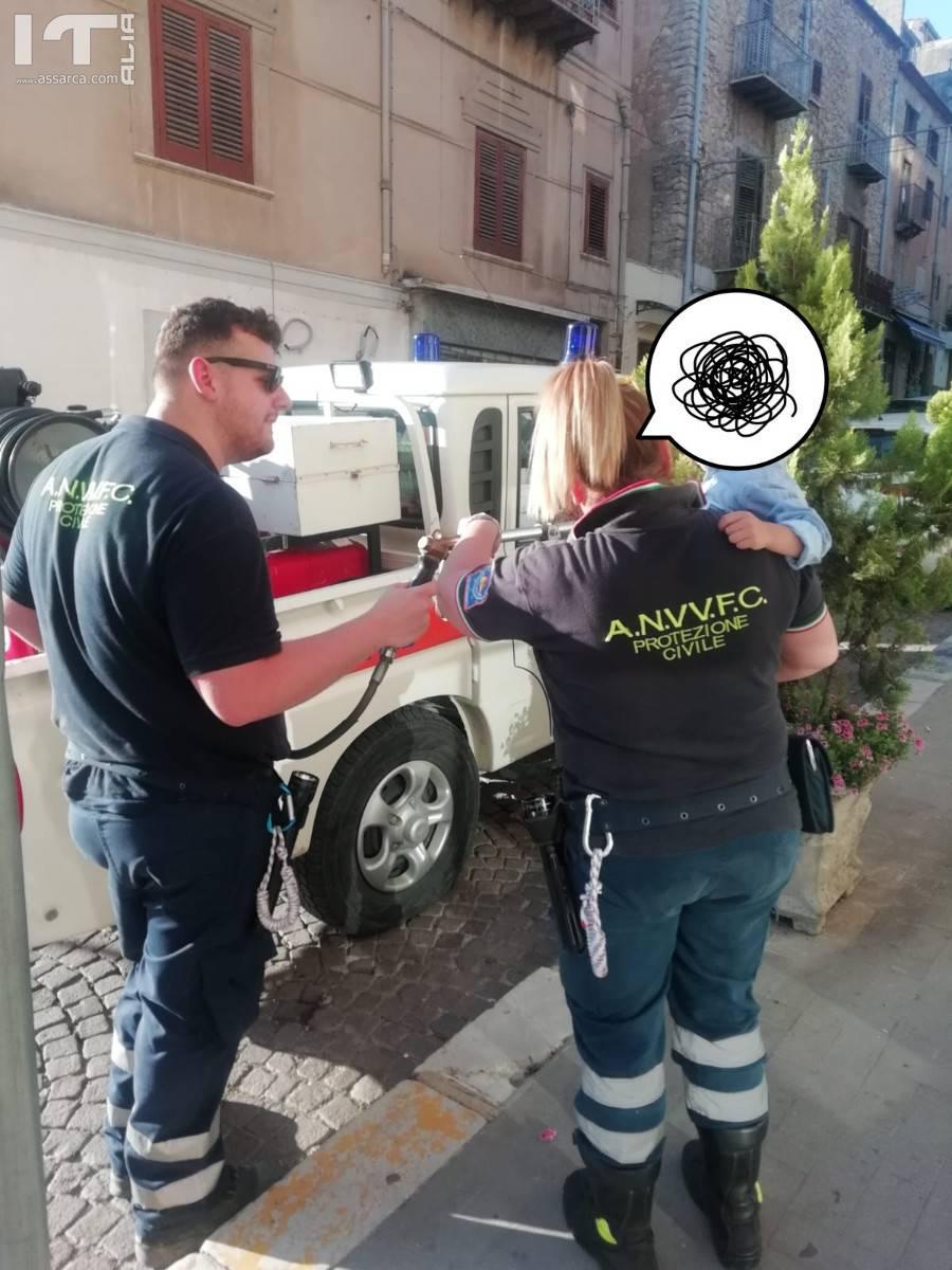 Campagna antincendio a cura dell ` Associazione Nazionale Vigili del Fuoco in Concedo Di Lercara Friddi.