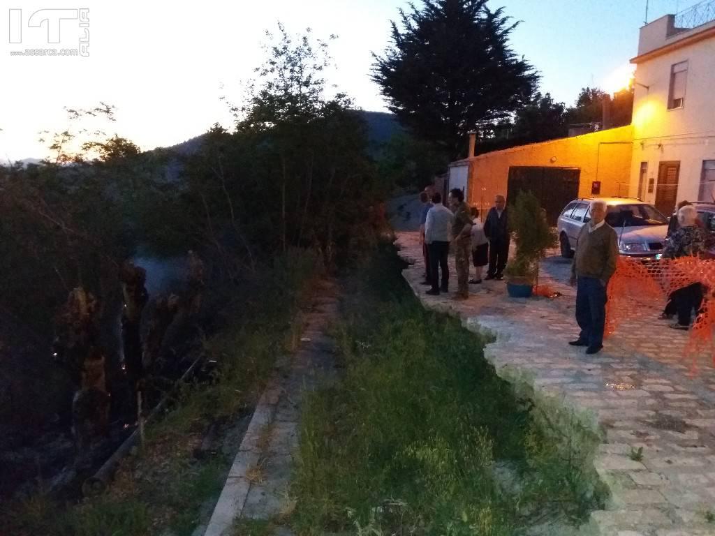 Alia, incendio in Via H Macello