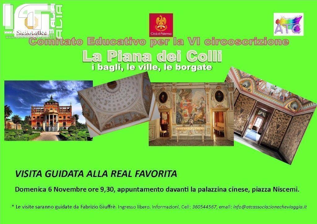 """SICILIANTICA: """"Passeggiate culturali"""": visita guidata alla Real Favorita."""