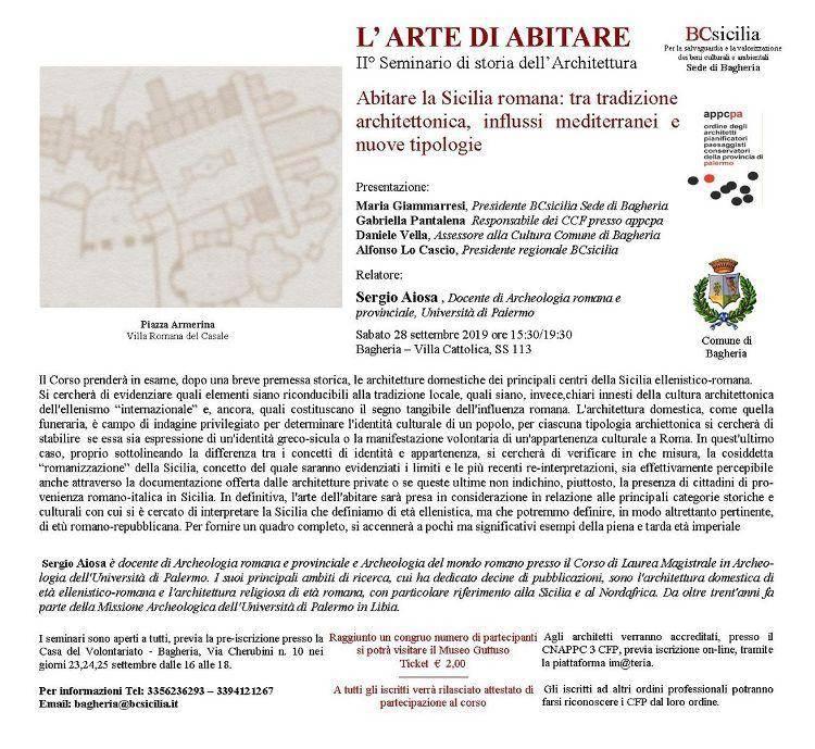 ABITARE LA SICILIA ROMANA: TRA TRADIZIONE ARCHITETTONICA, IN...