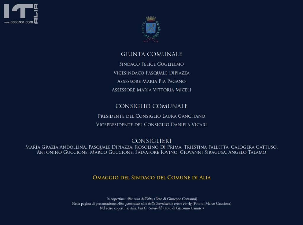 CALENDARIO 2019  COMUNE DI ALIA