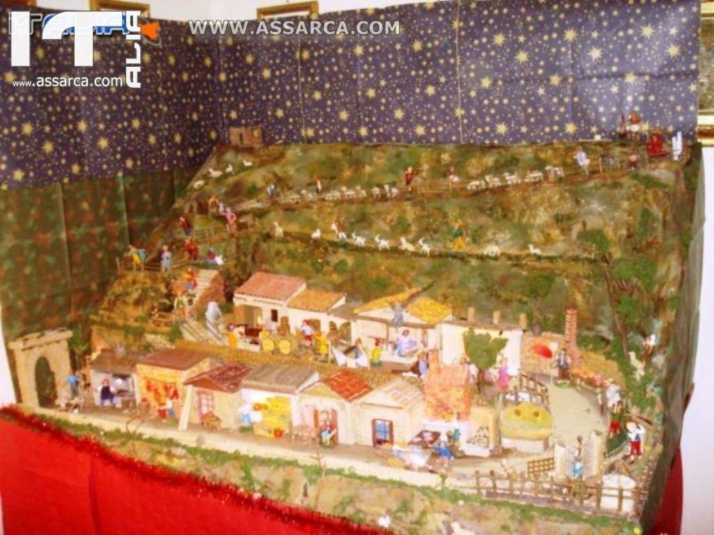 PRESEPE ARTIGIANALE REALIZZATO DALL`ARTISTA SALVO D`AGOSTINO - NATALE 2012 .