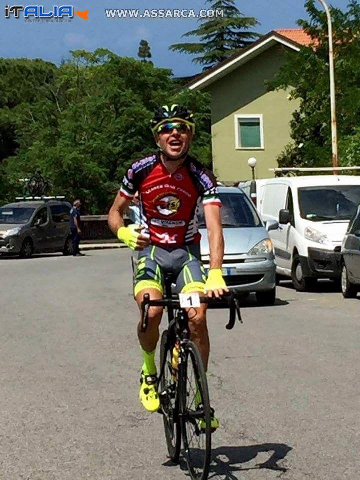 CICLISMO:  15 maggio 2016 a Patti (ME) - 20° campionato Granfondo Ciclismo su strada 2016 - Con una fantastica doppietta, si sono imposti gli atleti Barbera e Randazzo della A.S.D. Fiamma Palermo alla 26^ GF Libero Grassi