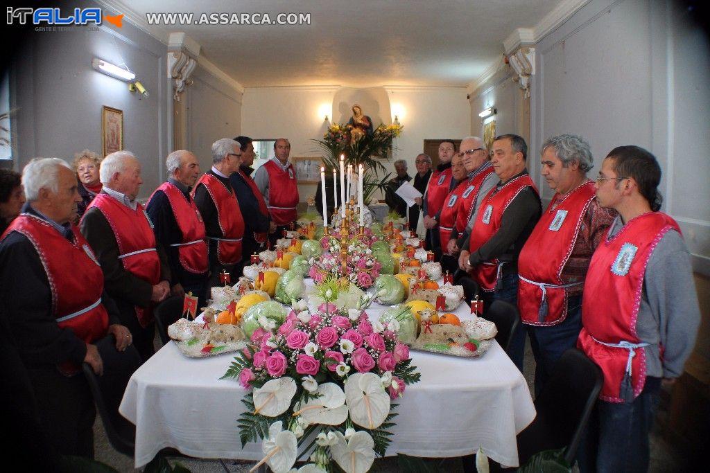 Le tavolate delle confraternite Pasqua 2014