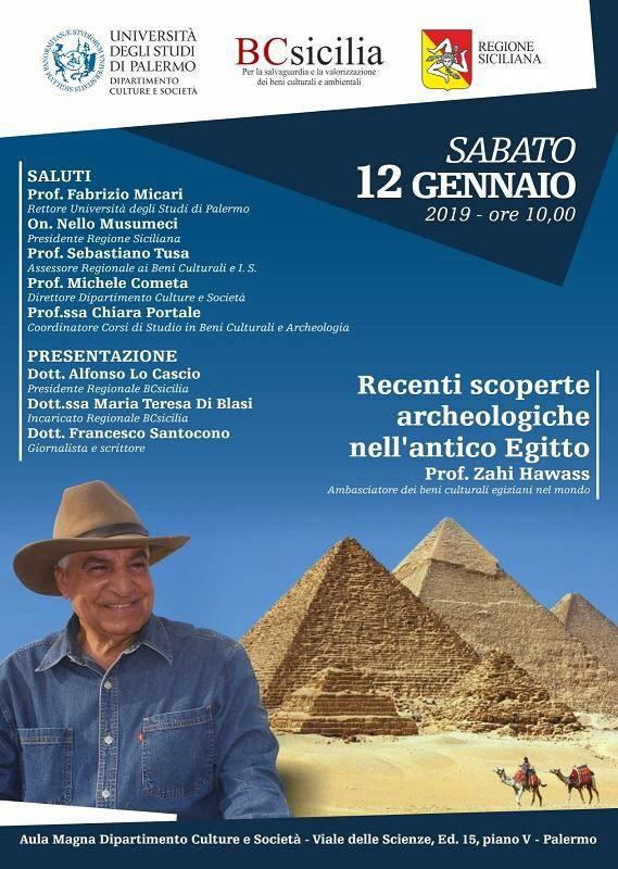 Palermo, conferenza: Recenti scoperte archeologiche nell'antico Egitto