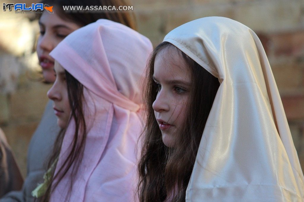 Immagini del film di Gesù,girate a Marcatobianco