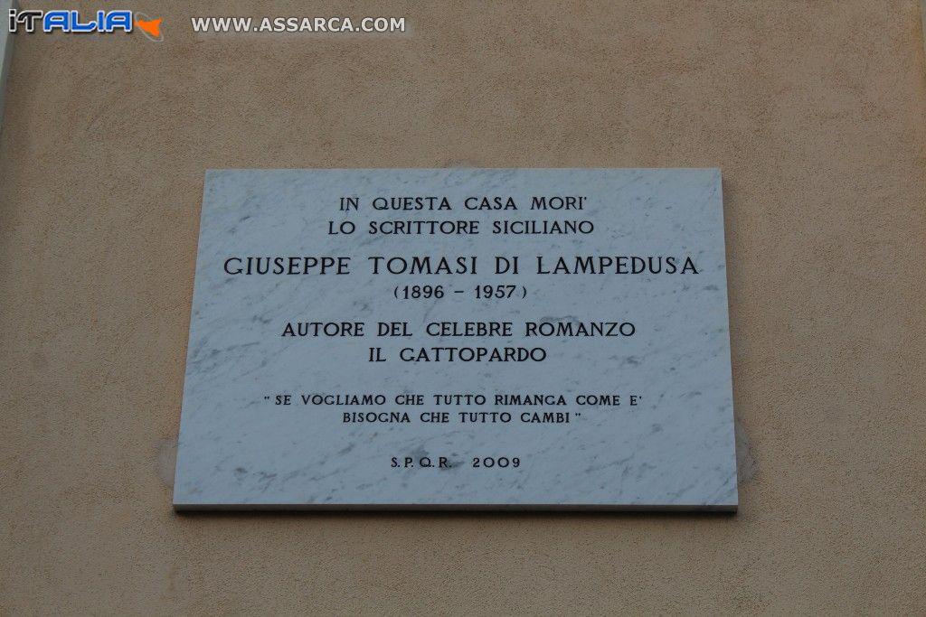 119° ANNIVERSARIO DELLA NASCITA DI GIUSEPPE TOMASI DI LAMPEDUSA