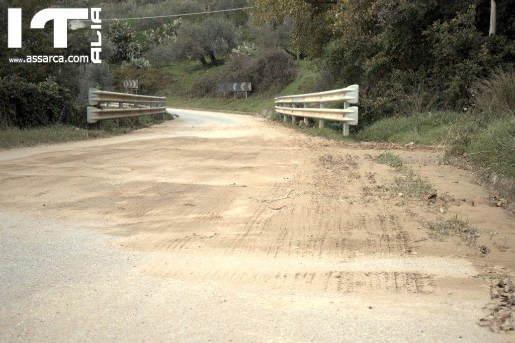 La strada che da Alia collega Montemaggiore Belsito.