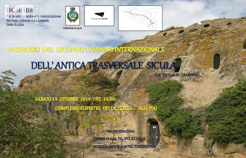 Alia. Il 19 ottobre 2019 previsto il passaggio alla Gurfa del secondo cammino internazionale dell'antica trasversale sicula