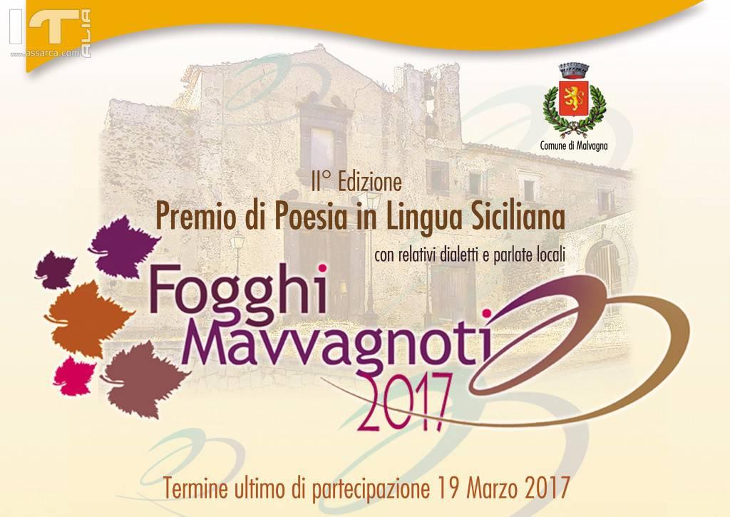 """MALVAGNA: PREMIO DI POESIA SICILIANA """"FOGGHI MAVVAGNOTI"""""""
