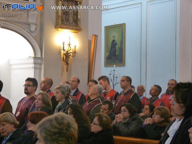 CENA DEI CONFRATI DI SAN GIUSEPPE  E FUNZIONE DEL GIOVEDÌ SANTO 2012