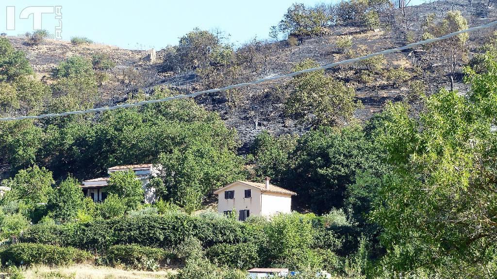 Il territorio Aliese  devastato da un incendio di vaste proporzioni.