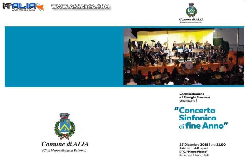 ALIA (PA) - CONCERTO SINFONICO DI FINE ANNO
