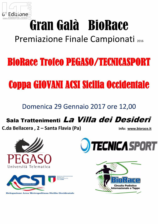 Podismo: Una valanga di premi al Gran Galà BioRace, in passerella le eccellenze dell`Atletica siciliana