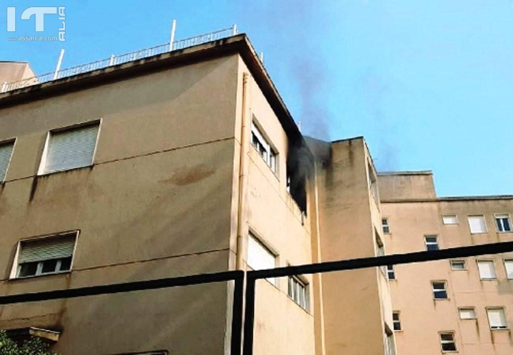 Incendio a Sciacca, vandali danno fuoco al Grand Hotel delle Terme.