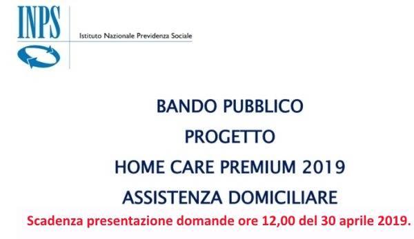 BANDO PUBBLICO HOME CARE PREMIUM 2019