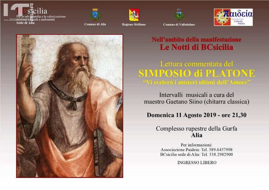 BCSicilia Alia : GURFA, lettura commentata del SIMPOSIO DI PLATONE
