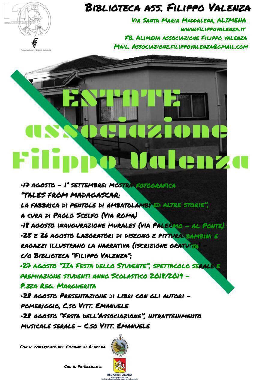 L`ASSOCIAZIONE FILIPPO VALENZA DI ALIMENA: FESTA DELLO STUDE...