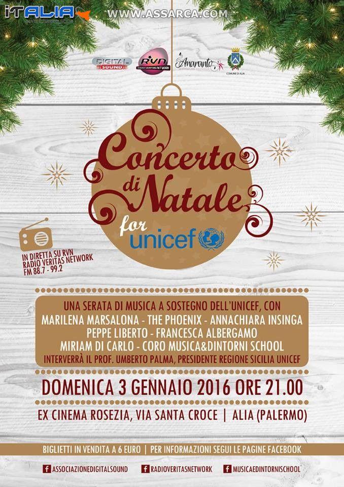 CONCERTO DI NATALE FOR UNICEF
