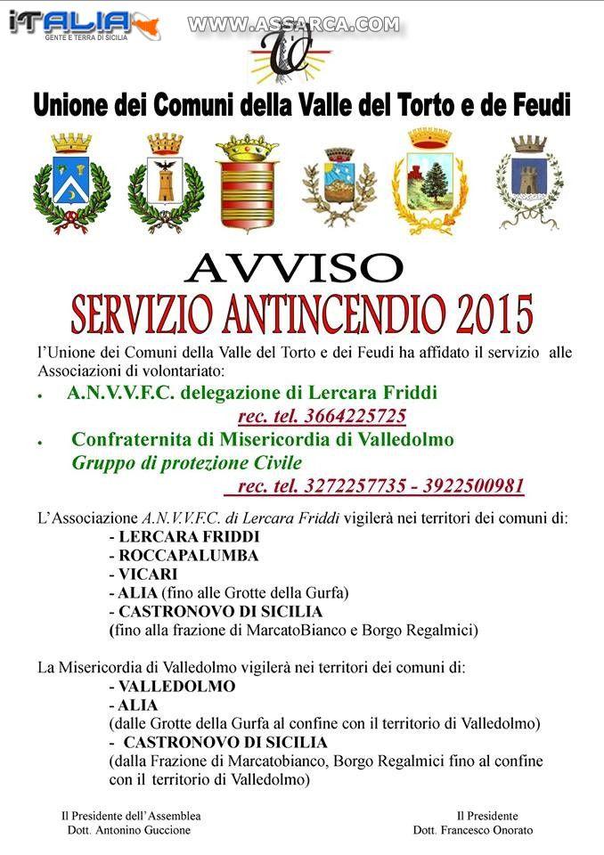 SERVIZIO ANTINCENDIO 2015