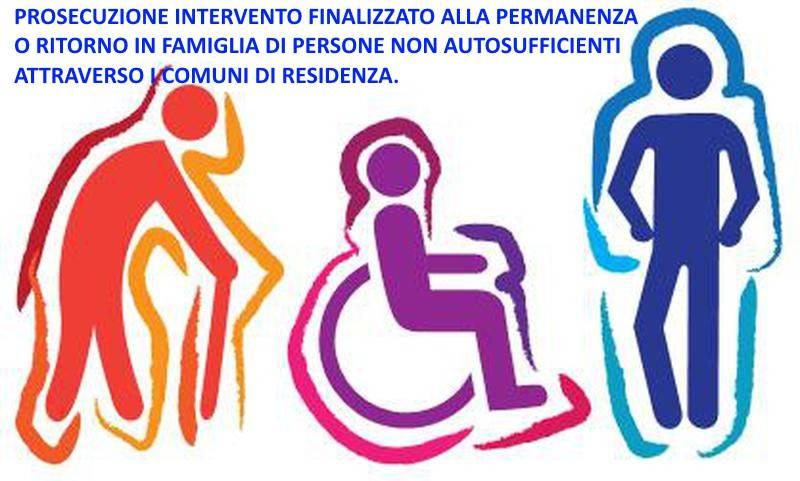 PROSECUZIONE INTERVENTO FINALIZZATO ALLA PERMANENZA O RITORNO IN FAMIGLIA DI PERSONE NON AUTOSUFFICIENTI ATTRAVERSO I COMUNI DI RESIDENZA. D.A.N.2753/S6 DEL 16.12.2014