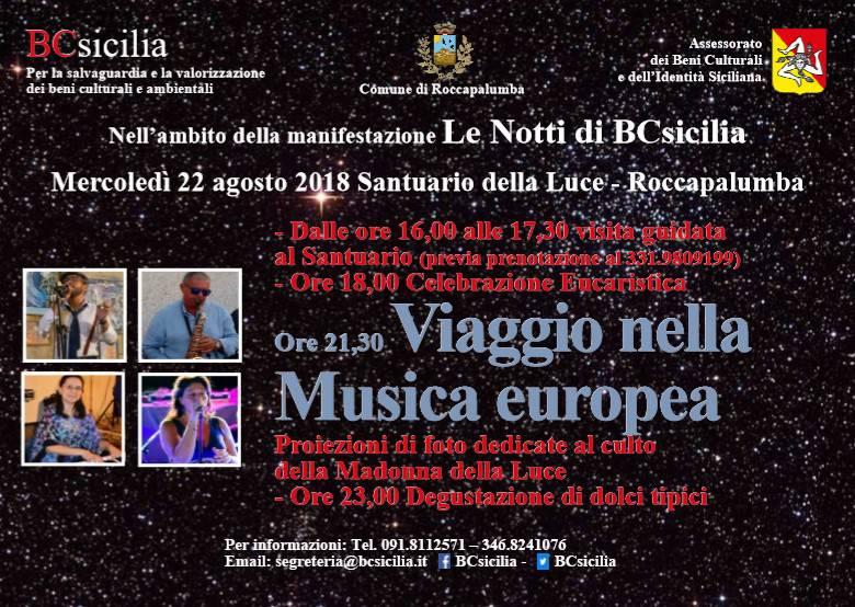 Roccapalumba: Viaggio nella Musica europea