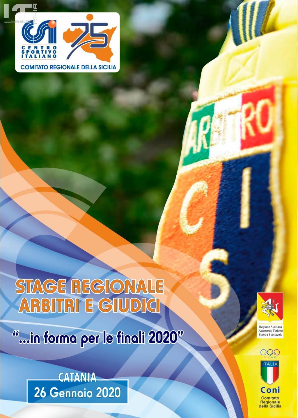 Stage Regionale Arbitri 2020 -  Catania 26 gennaio 2020.