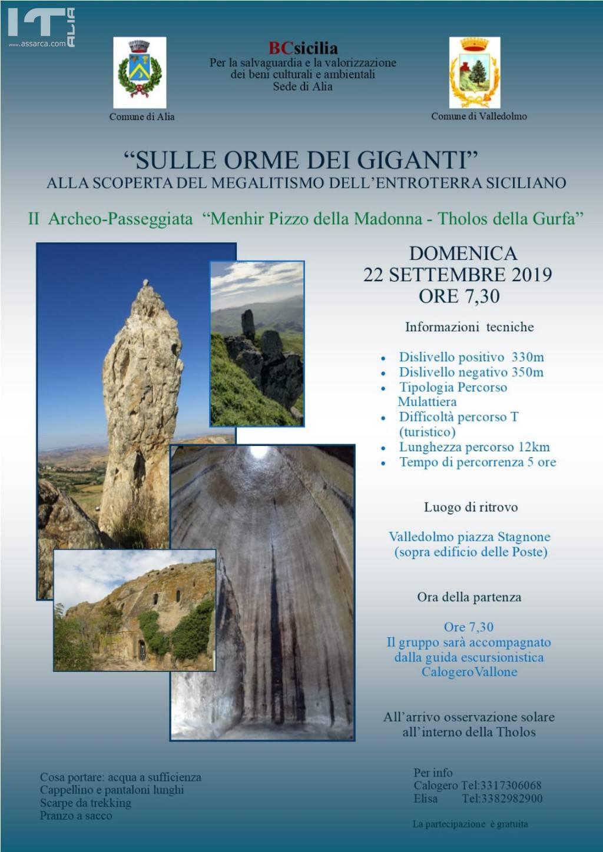 """""""SULLE ORME DEI GIGANTI""""… alla scoperta del Megalitismo dell'entroterra siciliano"""